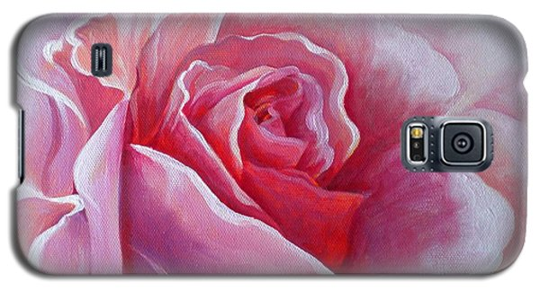 Galaxy S5 Case featuring the painting English Rose by Sandra Phryce-Jones