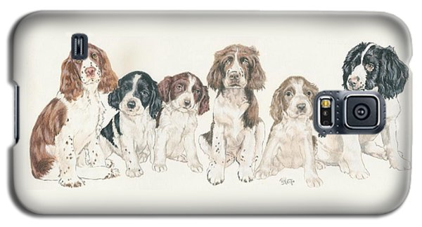 English Springer Spaniel Puppies Galaxy S5 Case