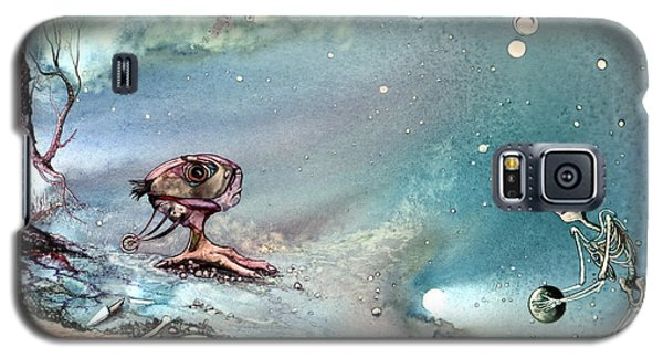 Galaxy S5 Case featuring the painting Enigma by Mikhail Savchenko
