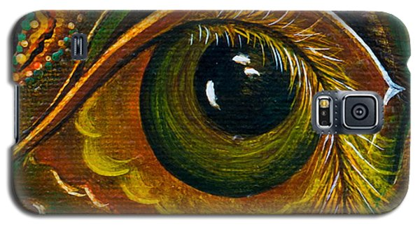 Galaxy S5 Case featuring the painting Enigma Spirit Eye by Deborha Kerr