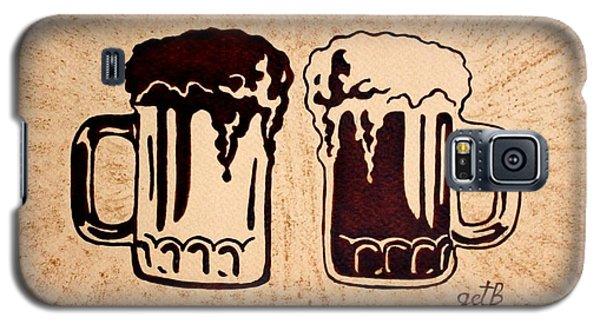 Enjoying Beer Galaxy S5 Case by Georgeta  Blanaru