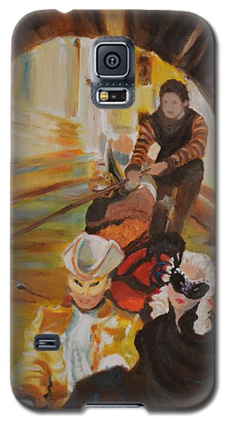 Galaxy S5 Case featuring the painting Ennui In Venice by Julie Todd-Cundiff