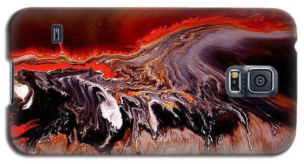 Enormous Power Wall Red Abstract Art By Kredart Galaxy S5 Case