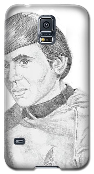 Galaxy S5 Case featuring the drawing Ensign Pavel Chekov by Thomas J Herring