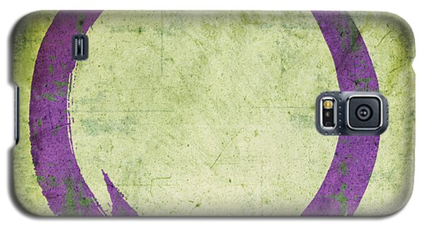 Enso No. 108 Purple On Green Galaxy S5 Case
