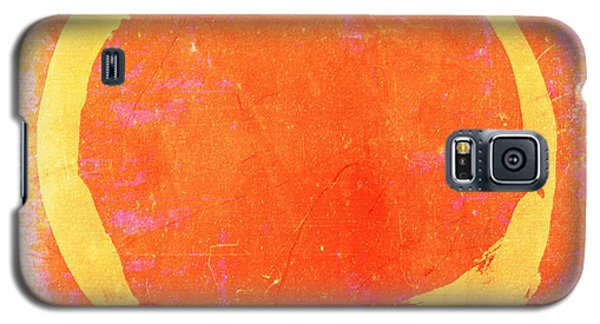 Enso No. 109 Yellow On Pink And Orange Galaxy S5 Case