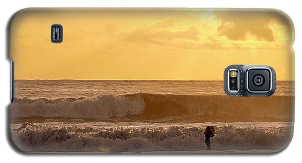 Galaxy S5 Case featuring the photograph Enter The Surfer by AJ  Schibig