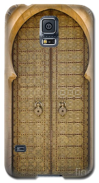 Galaxy S5 Case featuring the photograph Entrance Door To The Mausoleum Mohammed V Rabat Morocco by Ralph A  Ledergerber-Photography
