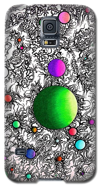 Galaxy S5 Case featuring the drawing Entropy Color Variation 2 by Devin  Cogger