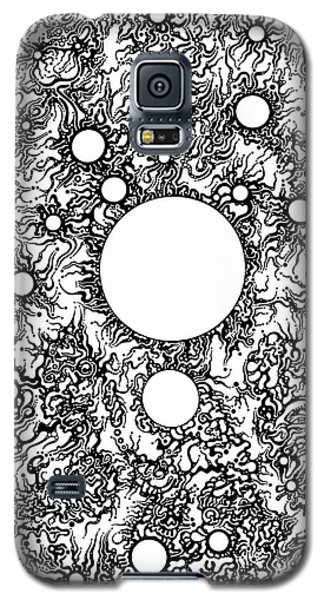 Galaxy S5 Case featuring the drawing Entropy Colorless by Devin  Cogger