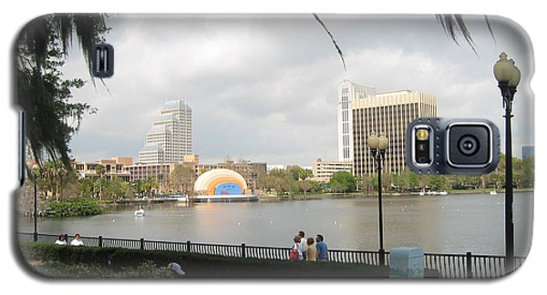 Galaxy S5 Case featuring the photograph Eola Park In Orlando by Judith Morris