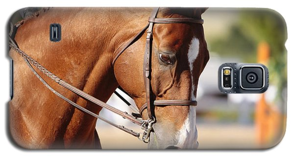 Galaxy S5 Case featuring the photograph Equestrian Grace by Lincoln Rogers