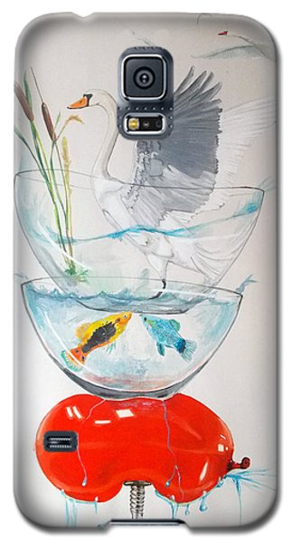 Galaxy S5 Case featuring the painting Equilibrium by Lazaro Hurtado