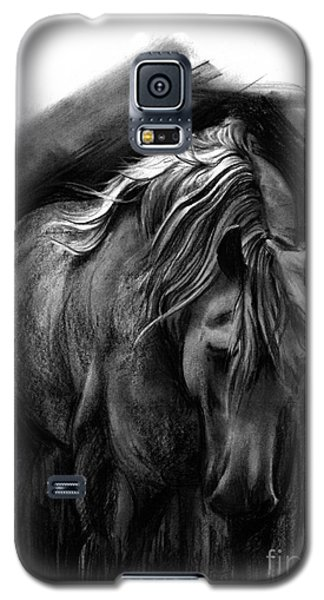 Galaxy S5 Case featuring the drawing Equine 1 by Paul Davenport