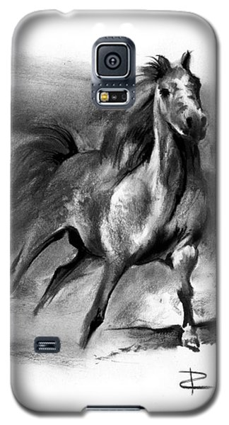 Galaxy S5 Case featuring the drawing Equine II by Paul Davenport