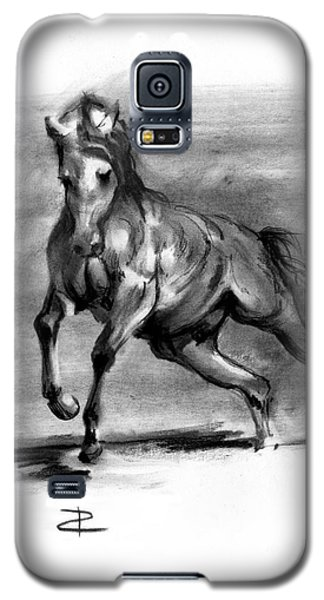 Galaxy S5 Case featuring the drawing Equine IIi by Paul Davenport