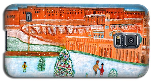 Galaxy S5 Case featuring the painting Erbil Citadel Christmas  by Magdalena Frohnsdorff