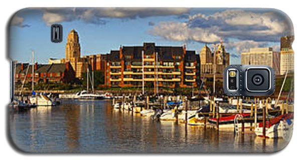 Erie Basin Marina Panorama Galaxy S5 Case by Don Nieman