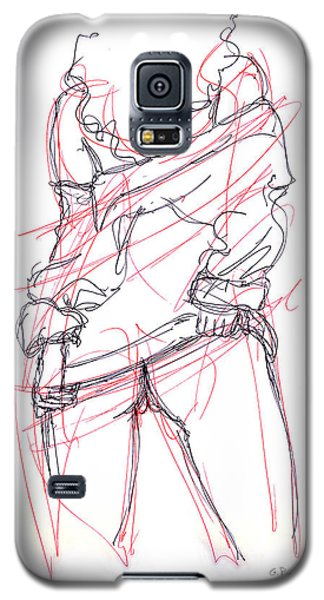 Galaxy S5 Case featuring the drawing Erotic Art Drawings 6 by Gordon Punt