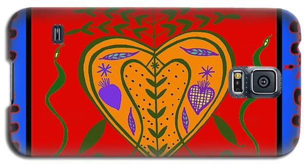 Galaxy S5 Case featuring the digital art Erzulie Freda by Vagabond Folk Art - Virginia Vivier