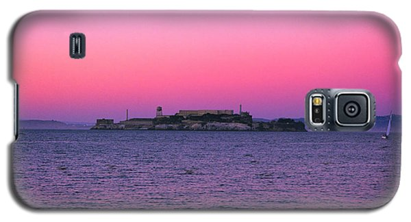 Escape From Alcatraz Under A Pink Sunset In A Sailboat Galaxy S5 Case