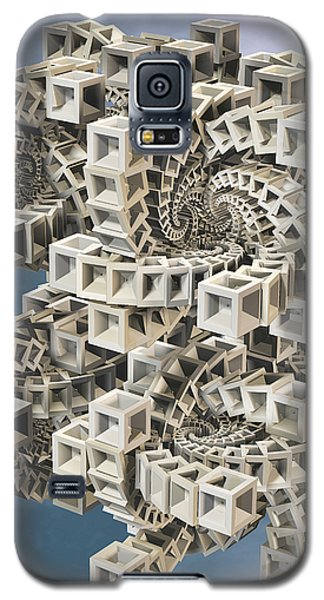 Galaxy S5 Case featuring the digital art Escher's Construct by Manny Lorenzo