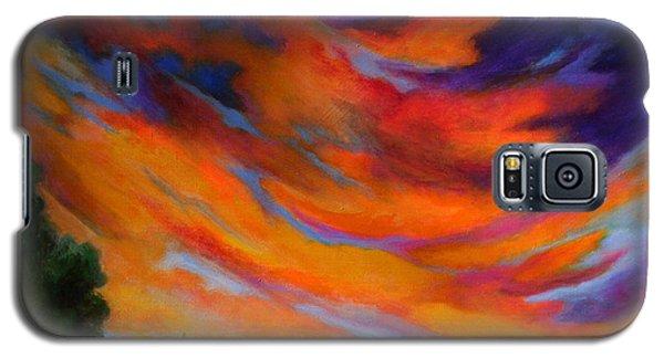 Galaxy S5 Case featuring the painting Espiritu Del Cielo by Alison Caltrider