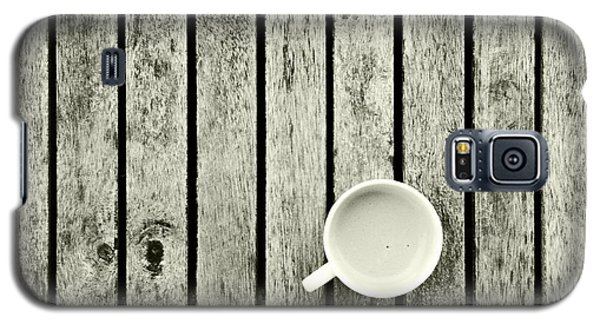 Espresso On A Wooden Table Galaxy S5 Case