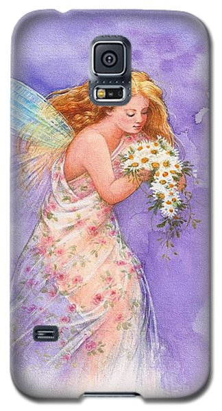Galaxy S5 Case featuring the painting Ethereal Daisy Flower Fairy by Judith Cheng