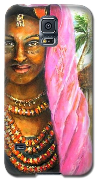 Galaxy S5 Case featuring the painting Ethiopia Bride by Bernadette Krupa