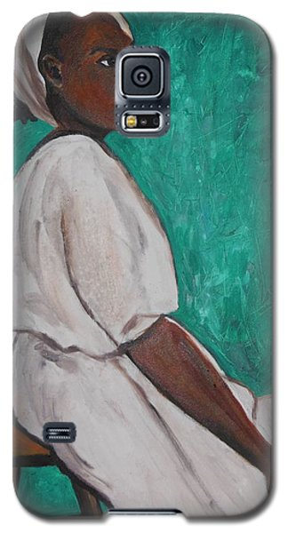 Ethiopian Woman In Green Galaxy S5 Case by Esther Newman-Cohen