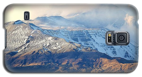 Galaxy S5 Case featuring the photograph Etna With Snow by Kathleen Pio