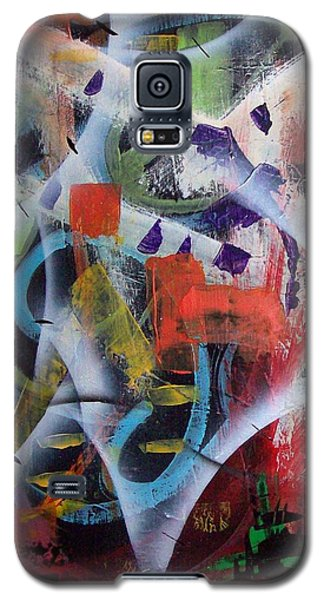 Galaxy S5 Case featuring the painting Euphoria by Yul Olaivar
