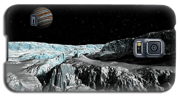 Galaxy S5 Case featuring the digital art Europa's Icefield  Part 2 by David Robinson