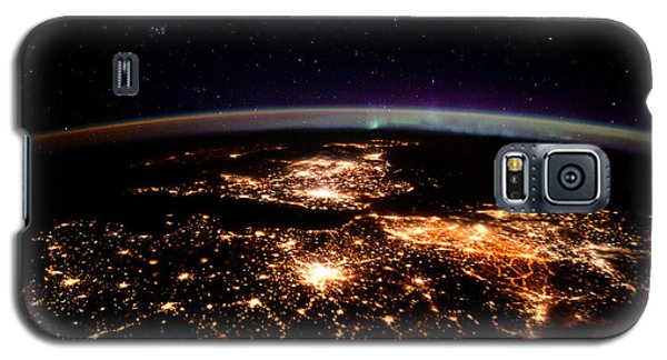 Galaxy S5 Case featuring the photograph Europe At Night, Satellite View by Science Source