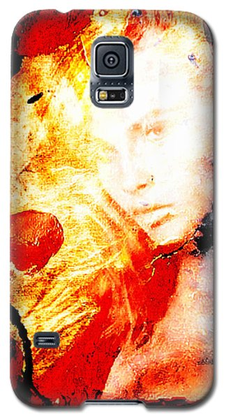 Galaxy S5 Case featuring the digital art Evanescent Face by Andrea Barbieri