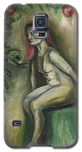 Galaxy S5 Case featuring the drawing Eve In The Garden  by Gabrielle Wilson-Sealy