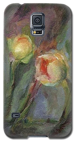 Galaxy S5 Case featuring the painting Evening Bloom by Mary Wolf