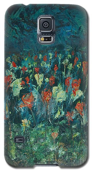 Galaxy S5 Case featuring the painting Evening Buds by Mini Arora