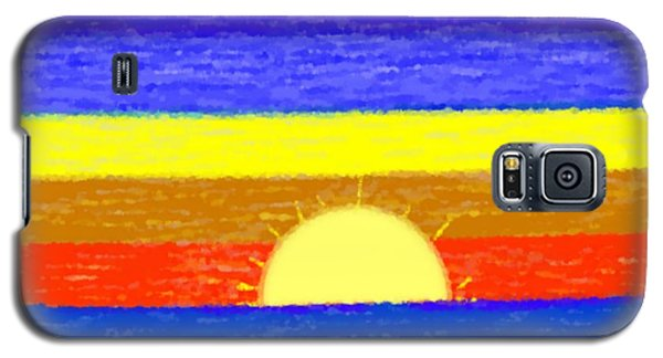 Galaxy S5 Case featuring the digital art Evening Colors by Dr Loifer Vladimir