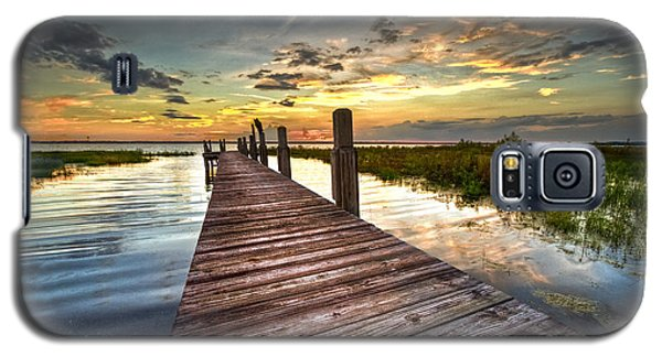 Sunset Galaxy S5 Case - Evening Dock by Debra and Dave Vanderlaan