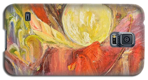 Galaxy S5 Case featuring the painting Evening by Evelina Popilian