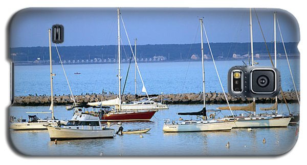 Galaxy S5 Case featuring the photograph Evening I The Harbor by Sebastian Mathews Szewczyk