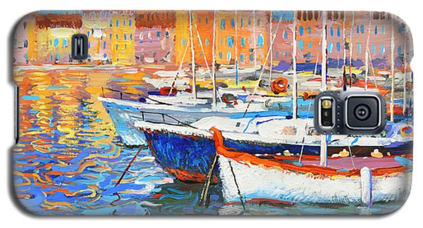 Galaxy S5 Case featuring the painting Evening Lights by Dmitry Spiros