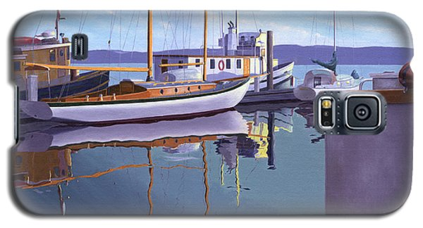 Galaxy S5 Case featuring the painting Evening On Malaspina Strait by Gary Giacomelli