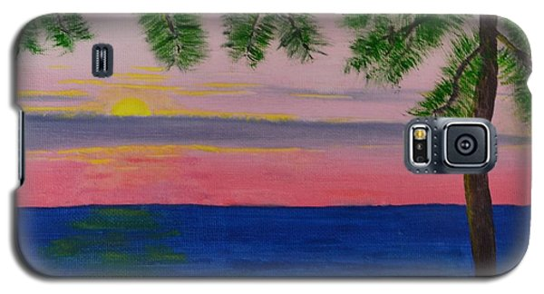 Galaxy S5 Case featuring the painting Evening On Mobile Bay by Melvin Turner