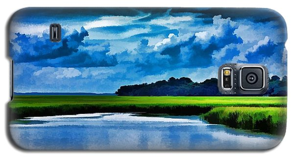 Galaxy S5 Case featuring the photograph Evening On The Marsh by Ludwig Keck