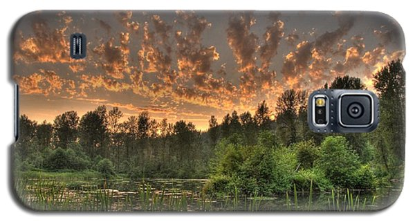 Galaxy S5 Case featuring the photograph Evening Pond by Jeff Cook