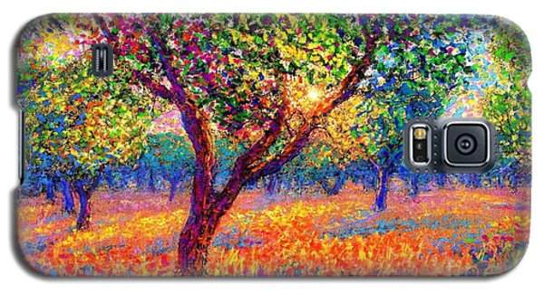 Galaxy S5 Case featuring the painting Evening Poppies by Jane Small