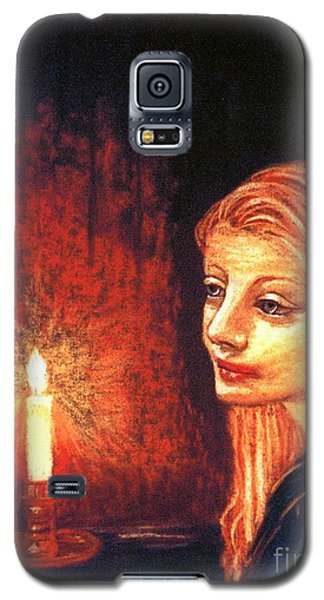 Galaxy S5 Case featuring the painting Evening Prayer by Jane Small